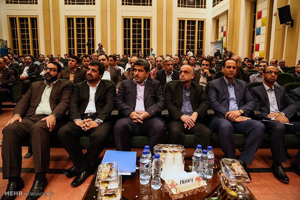 مراسم تودیع معارفه مدیر شرکت آب و فاضلاب استان قم