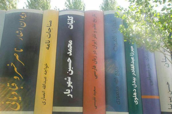 ماکت کتابهای طرح ورودی کتابخانه ملی