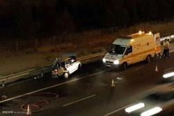 تصادف رانندگی در جاده قم