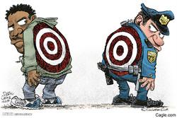 برترین کاریکاتورها؛ دوئل پلیس آمریکا و سیاهپوستان