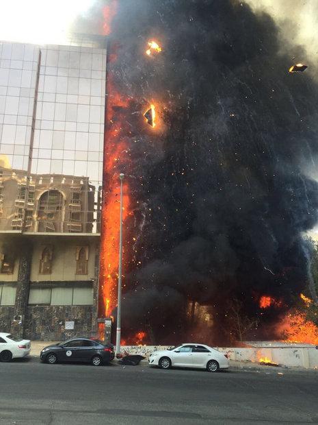 وسائل إعلام: حريق هائل في فندق بمكة المكرمة