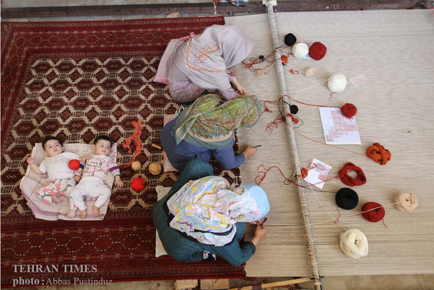 Turkmen carpets, coming in eye-catching designs