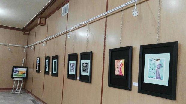 نمایشگاه نقاشی گروهی هنرمندان سقزی گشایش یافت