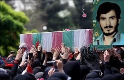 شهید یزدانی ۳۶ سال پس از شهادت در زادگاهش خاکسپاری شد