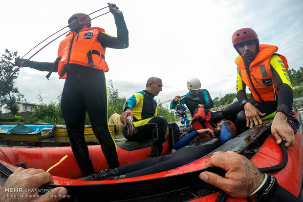 Flood search-and-rescue drill held