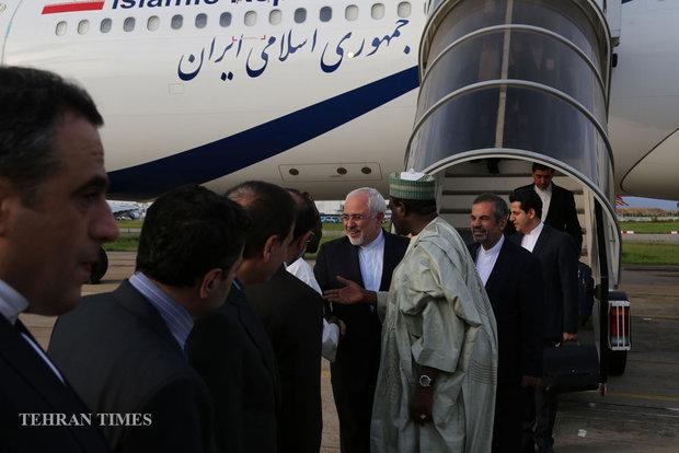 Zarif meets Nigerian president