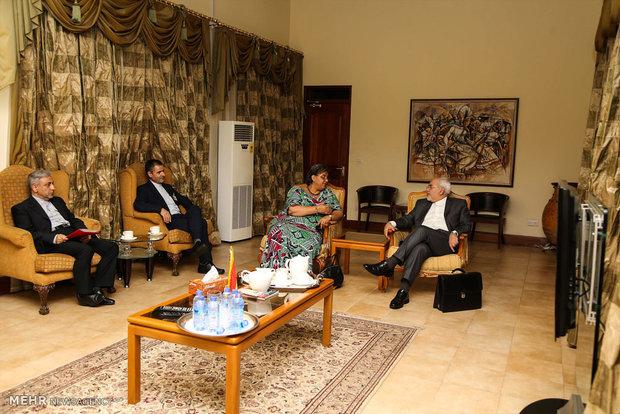 Zarif'in Gana ziyareti