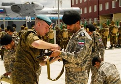فیلم/ تمرین مشترک نیروهای مسلح ایران با یک تیم روس