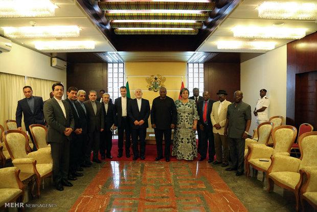 لقاء ظريف برئيس جمهورية غينيا