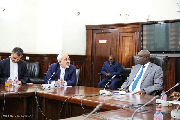 دیدار وزیر امور خارجه با رئیس مجلس غنا