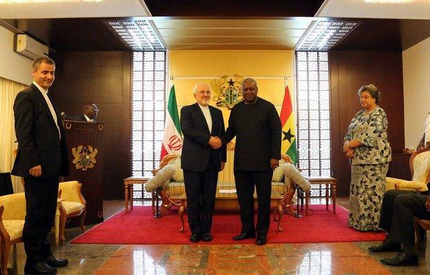 Zarif meets Ghanaian president