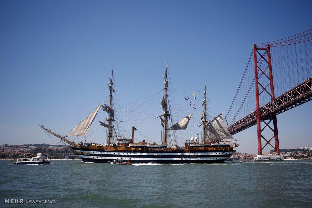 مسابقه کشتی های بلند بادبانی در لیسبون