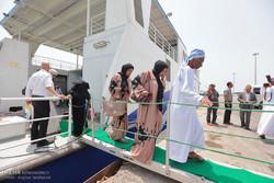 ورود نخستین کشتی مسافری مسیر دریایی بندر خصب عمان به قشم