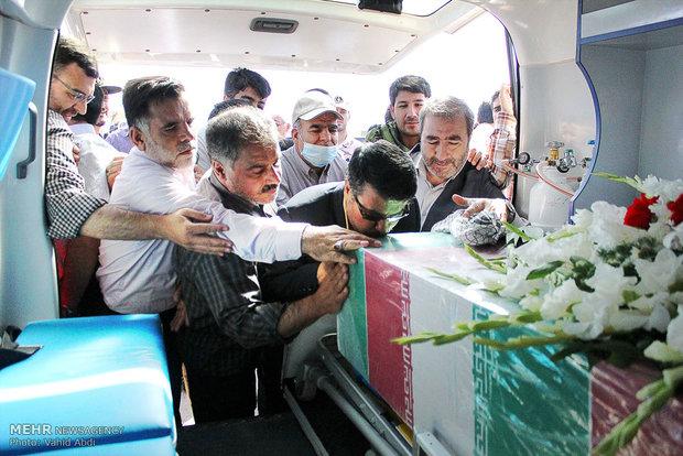 مراسم استقبال از پیکر مطهر 8 شهید گمنام دوران دفاع مقدس در تبریز