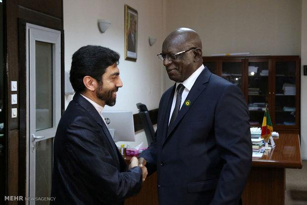 دیدار وزیر امور خارجه با رئیس مجلس مالی