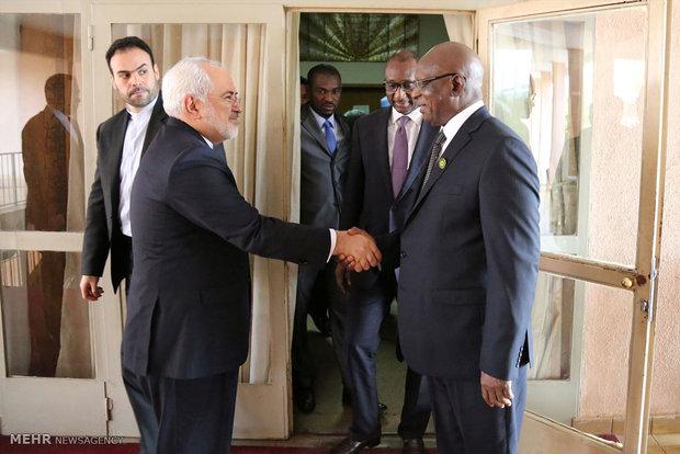 Zarif meets Mali speaker of parliament