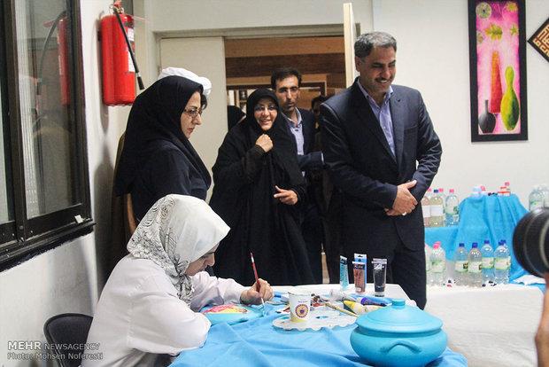 Women display handicrafts in Birjand