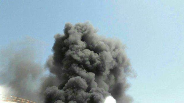جلوگیری از سرایت آتش سوزی به مخازن دیگر پتروشیمی بیستون