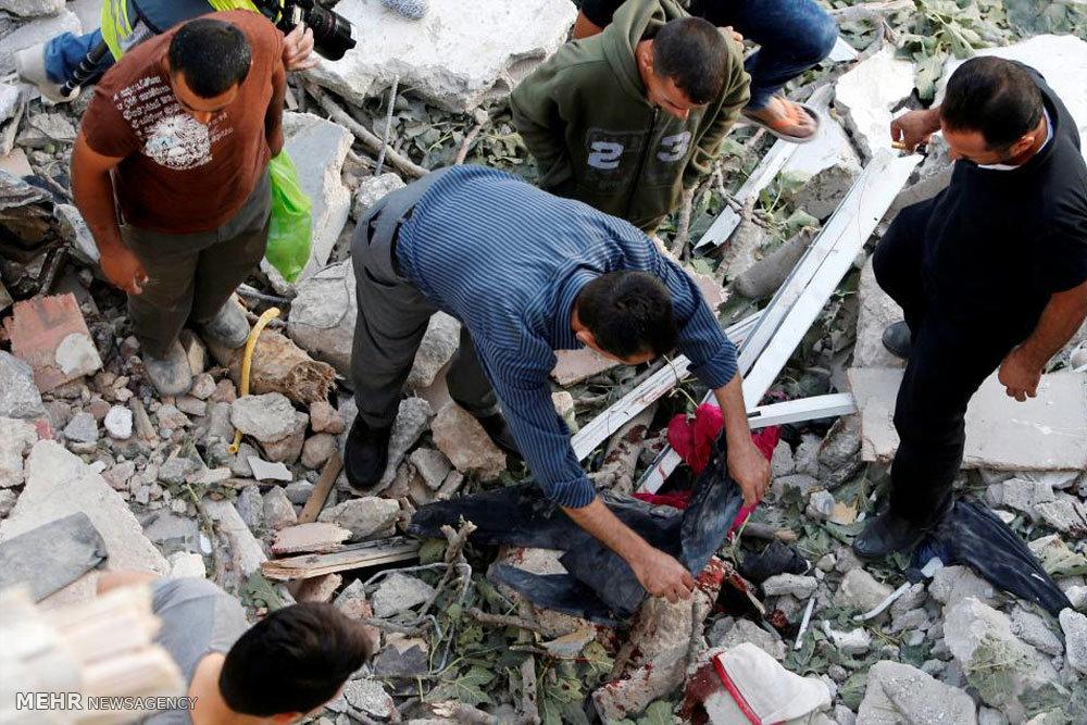 یورش صهیونیست ها به خانه مبارز فلسطینی