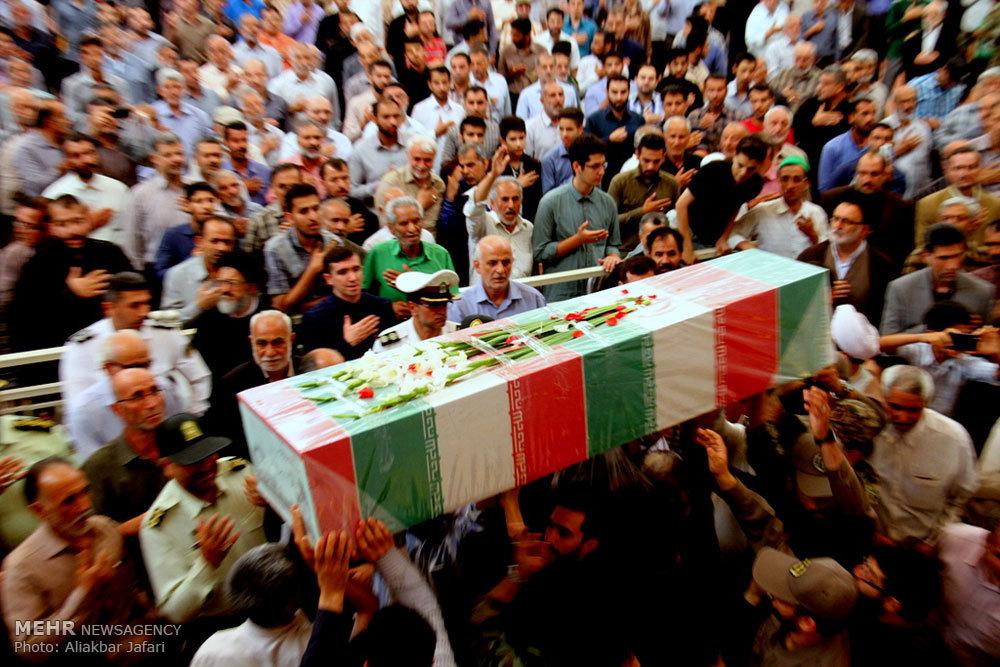 مراسم تشییع پیکر مطهر شش شهید گمنام در گرگان