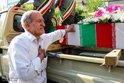 مراسم تشییع شهدای گمنام در تبریز