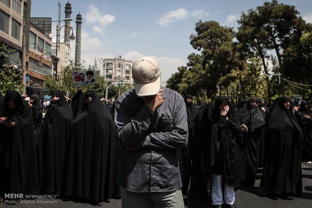 تشییع پیکر دو شهید مدافع حرم از تیپ فاطمیون