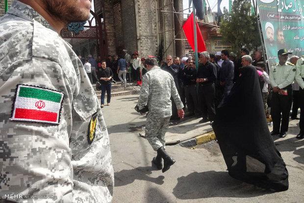 مراسم تشییع پیکر مطهر 2 شهید دفاع مقدس در بیرجند
