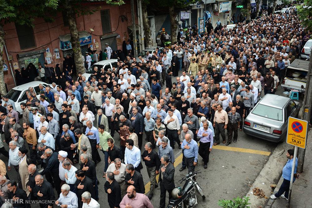 مراسم تشییع حمید رضا رحیمیان شهید تازه تفحص شده
