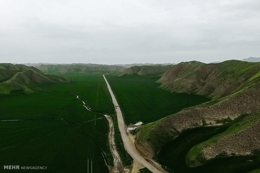 نمای هوایی از استان گلستان