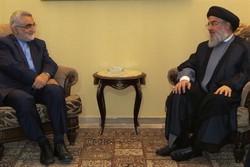أمين عام حزب الله يستقبل علاء الدين بروجردي