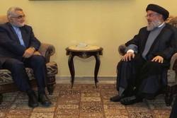 علاء الدین بروجردی و دبیر کل حزب الله لبنان دیدار کردند