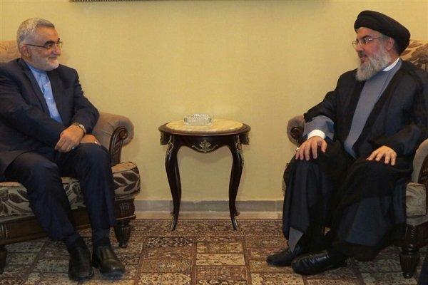 علاء الدین بروجردی کی حزب اللہ کے سربراہ سے ملاقات