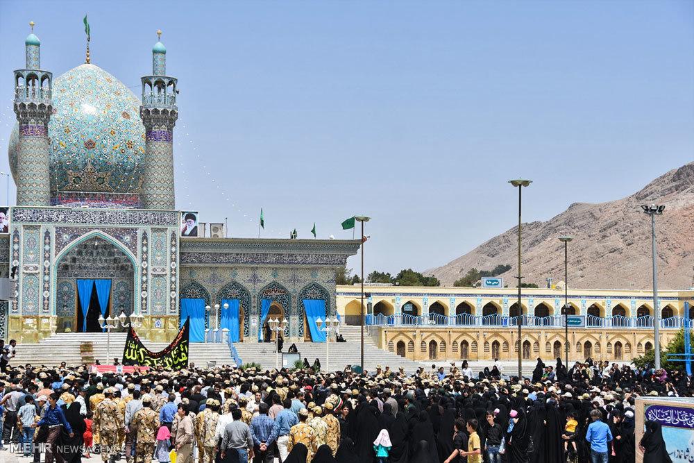 تشییع پیکر نخستین شهید مدافع حرم شهرضا