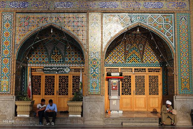 Shrine of Hadrat Masoumeh on eve of Day of Girls