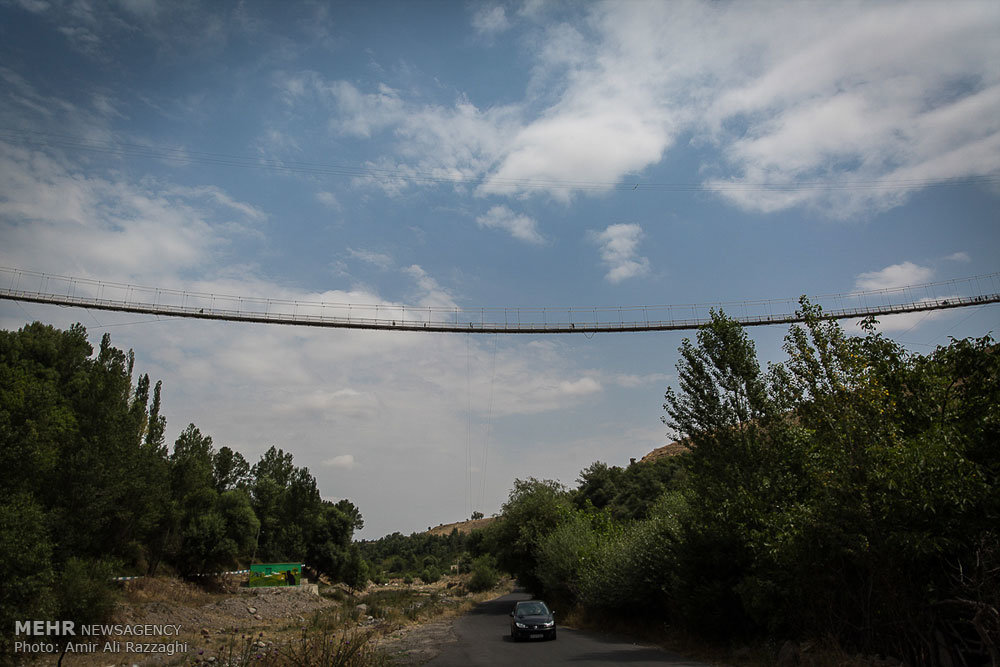 بزرگترین پل معلق خاورمیانه