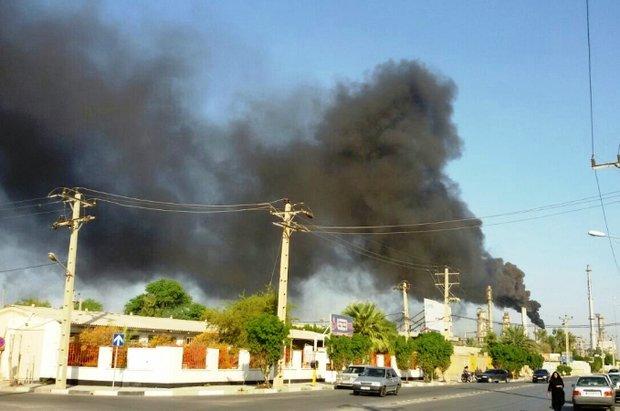 آتش سوزی در واحد ۵۵ پالایشگاه آبادان مهار شد/ واحد در مدار تولید