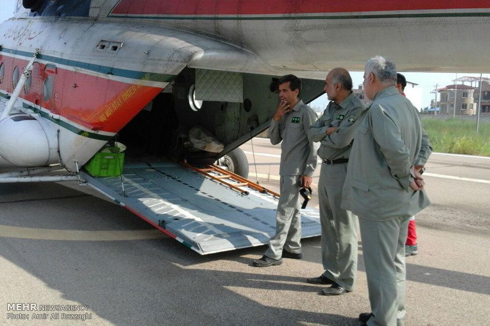 انتقال هوایی مرال های سمسکنده به البرز مرکزی