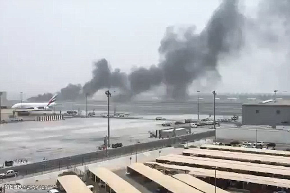 سانحه در فرودگاه دوبی