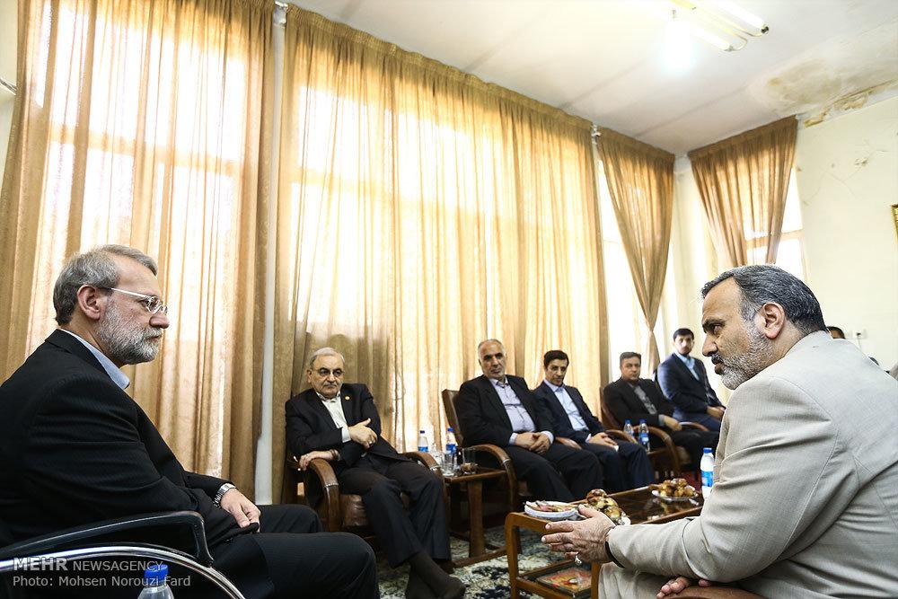 نشست مشترک رئیس مجلس با استاندار و شهردار قم