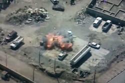 فیلم/حمله هوایی جنگندههای عراقی به مواضع داعش در موصل