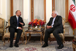 Zarif, Afghan natl. security adviser meet