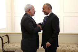 دیدار ظریف و مشاور امنیت ملی رئیس جمهور افغانستان