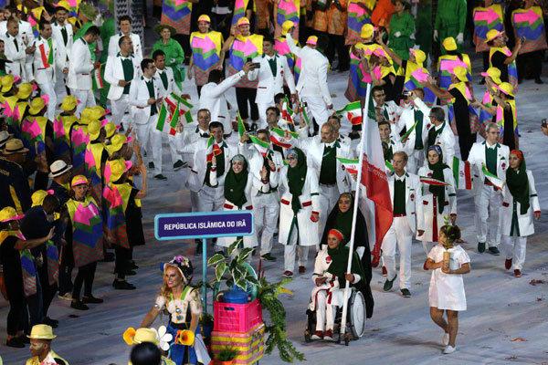 رژه کاروان ایران در المپیک ریو
