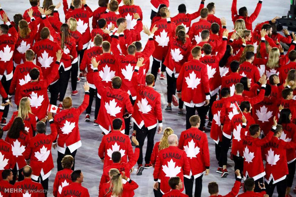 رژه ورزشکاران کشورهای مختلف در افتتاحیه المپیک