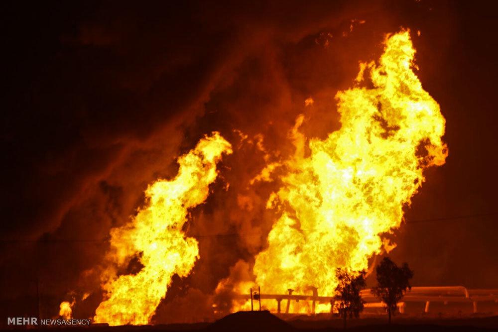 آتشسوزی در تاسیسات گاز شهرستان گناوه