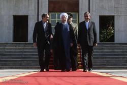 Rouhani leaves Tehran for Baku
