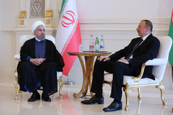 President Rouhani officially welcomed by Ilham Aliyev