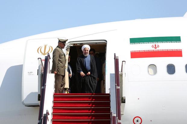 Rouhani arrives in Azerbaijan
