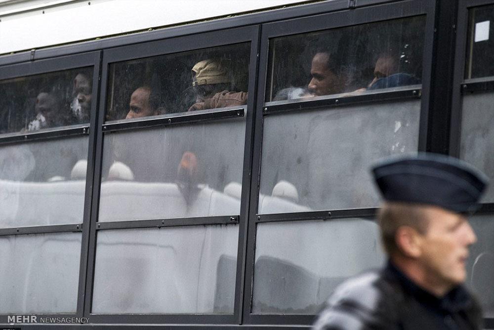 حمله پلیس فرانسه به پناهجویان