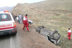 ۲حادثه رانندگی و ۸زخمی/امدادرسانی بهموقع جان مسافران را نجات داد